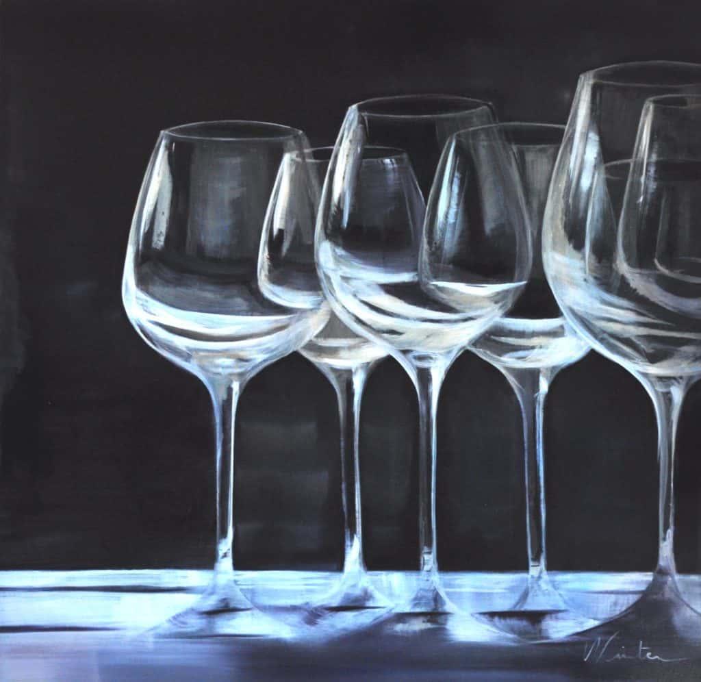 Reflets - 92 x 92 cm