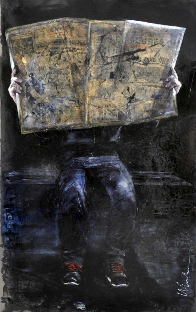 L'homme Journal - 124 x 92 cm